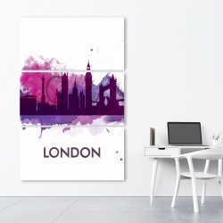 Canvas 40 x 60 - Purple silhouette of london