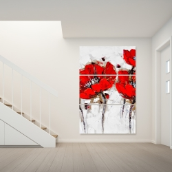 Canvas 40 x 60 - Red poppies with texture