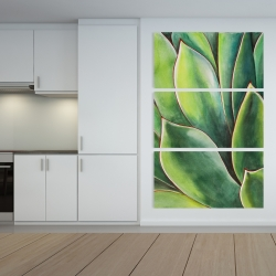 Canvas 40 x 60 - Watercolor agave plant