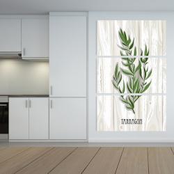 Canvas 40 x 60 - Tarragon on wood