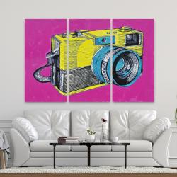 Toile 40 x 60 - Appareil photo rétro coloré