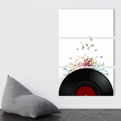 Canvas 40 x 60 - Notes escaping from a vinyl record