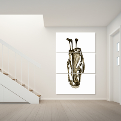 Canvas 40 x 60 -  illustration of a golf bag