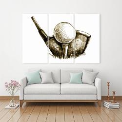 Canvas 40 x 60 - Illustration of a golf ball