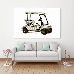 Canvas 40 x 60 - Illustration of a golf cart