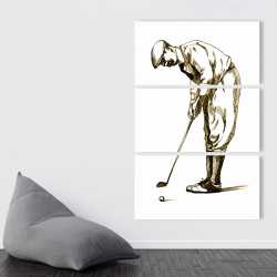 Canvas 40 x 60 - Illustration of a concentrated golfer