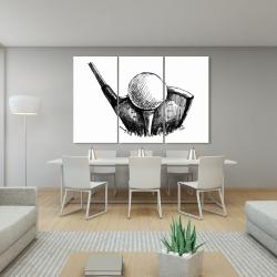Canvas 40 x 60 - Golf ball black and white