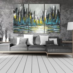 Canvas 40 x 60 - Abstract blue skyline