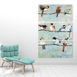 Canvas 40 x 60 - Small colorful birds