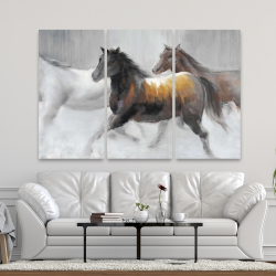 Canvas 40 x 60 - Herd of wild horses