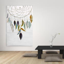 Canvas 40 x 60 - Dreamcatcher with feathers