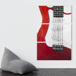 Canvas 40 x 60 - Red electric guitar