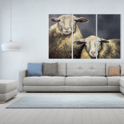 Canvas 40 x 60 - Two sheeps