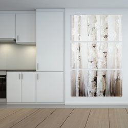 Canvas 40 x 60 - Abstract white birches
