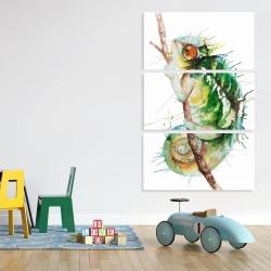 Canvas 40 x 60 - Watercolor chameleon