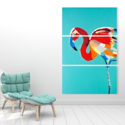 Canvas 40 x 60 - Abstract flamingo