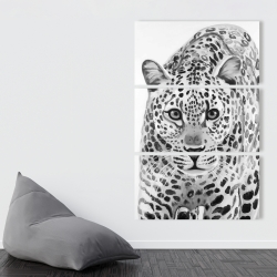 Canvas 40 x 60 - Leopard ready to attack