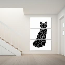 Canvas 40 x 60 - Geometric fox