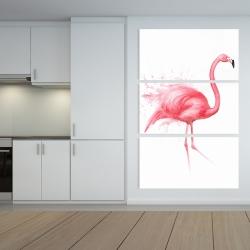 Canvas 40 x 60 - Pink flamingo watercolor