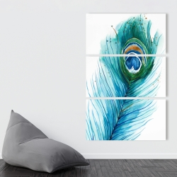Canvas 40 x 60 - Long peacock feather