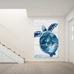 Canvas 40 x 60 - Watercolor blue turtle