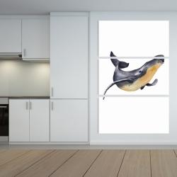 Canvas 40 x 60 - Watercolor blue whale