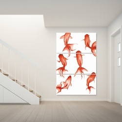 Canvas 40 x 60 - Small red fishes