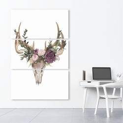 Canvas 40 x 60 - Deer skull with flowers