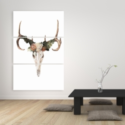 Canvas 40 x 60 - Deer skull with roses