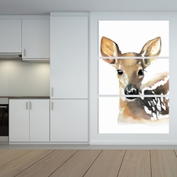 Canvas 40 x 60 - Watercolor fawn face