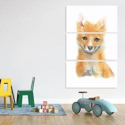 Canvas 40 x 60 - Watercolor baby fox