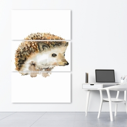 Canvas 40 x 60 - Watercolor hedgehog