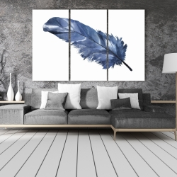 Canvas 40 x 60 - Blue feather