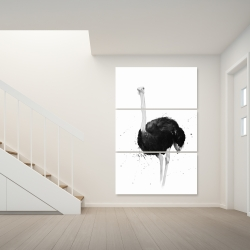 Canvas 40 x 60 - Ostrich in watercolor