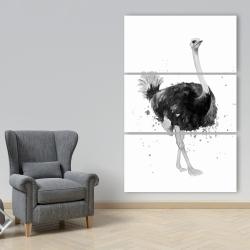 Canvas 40 x 60 - Proud ostrich