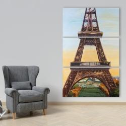 Canvas 40 x 60 - Eiffel tower by dawn