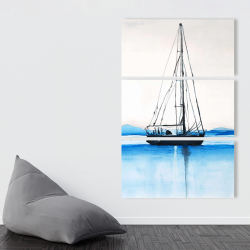 Canvas 40 x 60 - Sailboat on a calm water
