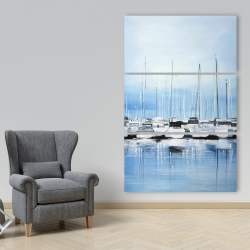 Canvas 40 x 60 - Boats at the dock
