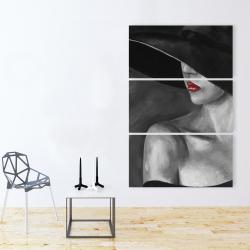Toile 40 x 60 - Femme mystérieuse avec un chapeau