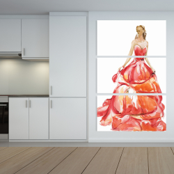 Canvas 40 x 60 - Beautiful red prom dress