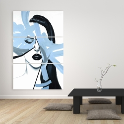 Canvas 40 x 60 - Abstract blue woman portrait