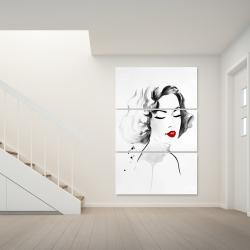 Canvas 40 x 60 - Watercolor woman
