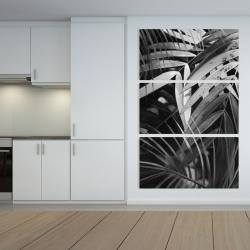 Canvas 40 x 60 - Monochrome tropicals leaves