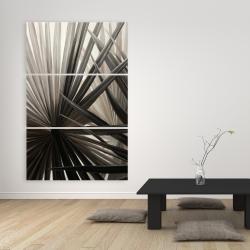 Canvas 40 x 60 - Grayscale tropical plants
