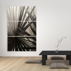 Canvas 40 x 60 - Grayscale tropical plants