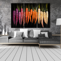 Canvas 40 x 60 - Colorful carrots