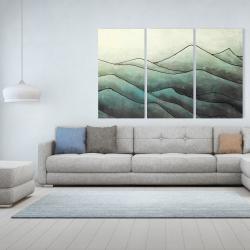 Toile 40 x 60 - Montagnes en tons de gris