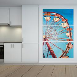 Canvas 40 x 60 - Ferris wheel by a beautiful day