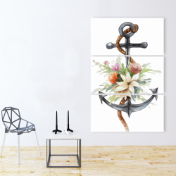 Canvas 40 x 60 - Anchor with flowers