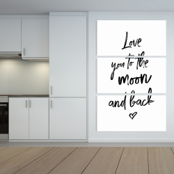 Canvas 40 x 60 - Love you to the moon and back